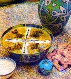 Traditional iranian food for Aria persian cuisine