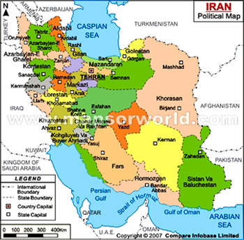 map of iran iran country information 31st adfiap conference