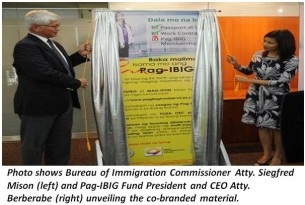Pag ibig and bureau of immigration join hands to promote ofw